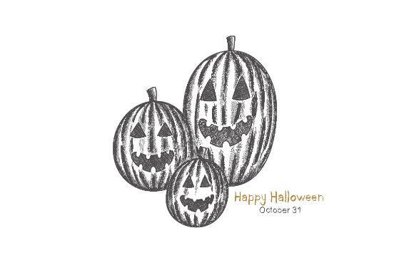 Download Free Halloween Pumpkin Drawing Grafico Por Firdausm601 Creative Fabrica for Cricut Explore, Silhouette and other cutting machines.