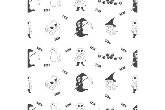 Print on Demand: Halloween Seamless Pattern Graphic Icons By firdausm601