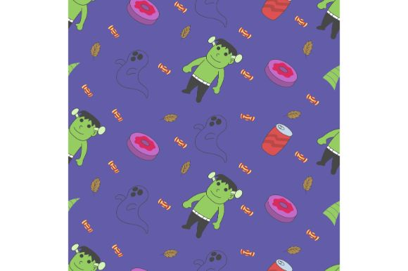 Download Free Halloween Seamless Pattern Graphic By Firdausm601 Creative Fabrica for Cricut Explore, Silhouette and other cutting machines.