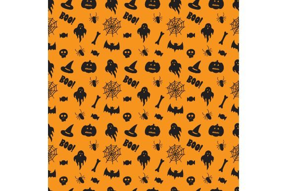 Download Free Halloween Wallpaper Seamless Pattern Graphic By Firdausm601 for Cricut Explore, Silhouette and other cutting machines.