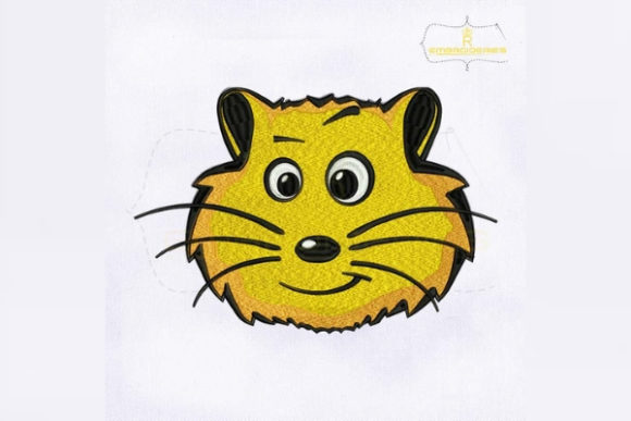 Hamster Face Woodland Animals Embroidery Design By RoyalEmbroideries