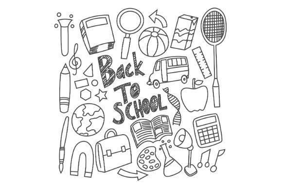 Download Free Hand Drawn Back To School Vector Graphic By Firdausm601 for Cricut Explore, Silhouette and other cutting machines.