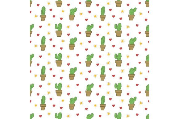 Download Free Hand Drawn Cactus Seamless Pattern Graphic By Firdausm601 for Cricut Explore, Silhouette and other cutting machines.