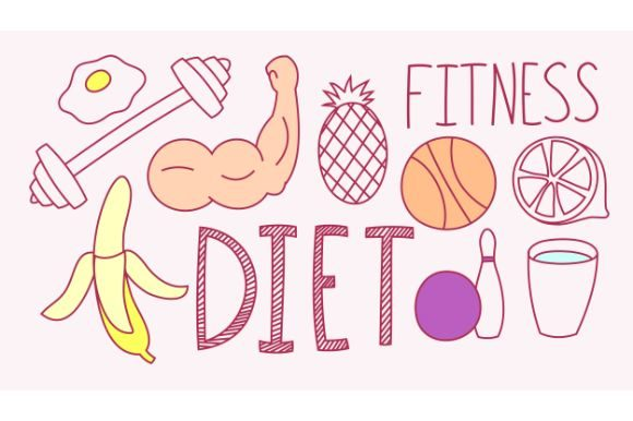 Download Free Hand Drawn Fitness Diet Graphic By Firdausm601 Creative Fabrica for Cricut Explore, Silhouette and other cutting machines.