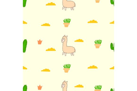 Download Free Hand Drawn Lama Seamless Pattern Graphic By Firdausm601 for Cricut Explore, Silhouette and other cutting machines.