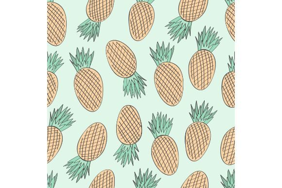 Download Free Hand Drawn Pineapple Seamless Pattern Graphic By Firdausm601 for Cricut Explore, Silhouette and other cutting machines.