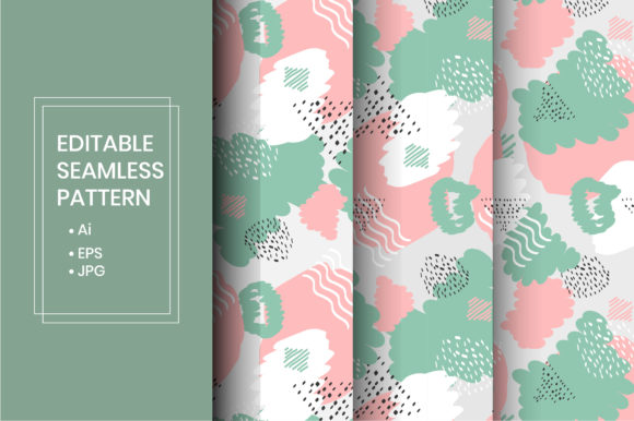 Download Free Cute Floral Seamless Line Art Pattern Graphic By Iorozuya for Cricut Explore, Silhouette and other cutting machines.