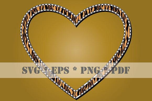 Download Free Heart Animal Skin Tiger Frame Vector Svg Graphic By Graphicsfarm for Cricut Explore, Silhouette and other cutting machines.