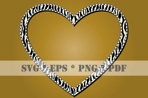 Download Free Heart Animal Skin Zebra Frame Scalable Graphic By Graphicsfarm Creative Fabrica for Cricut Explore, Silhouette and other cutting machines.
