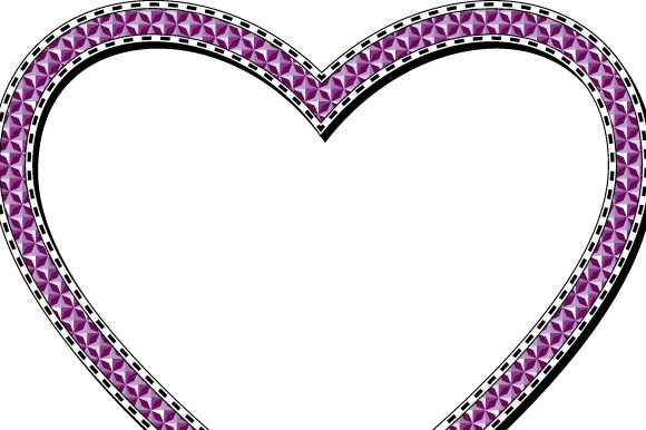 Download Free Heart Frame Transparent Purple Graphic By Graphicsfarm for Cricut Explore, Silhouette and other cutting machines.