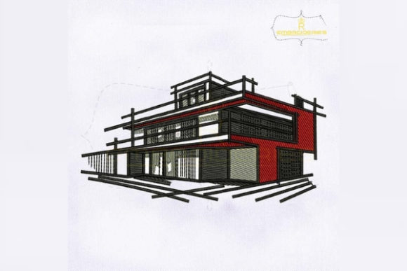 House Sketch House & Home Embroidery Design By RoyalEmbroideries
