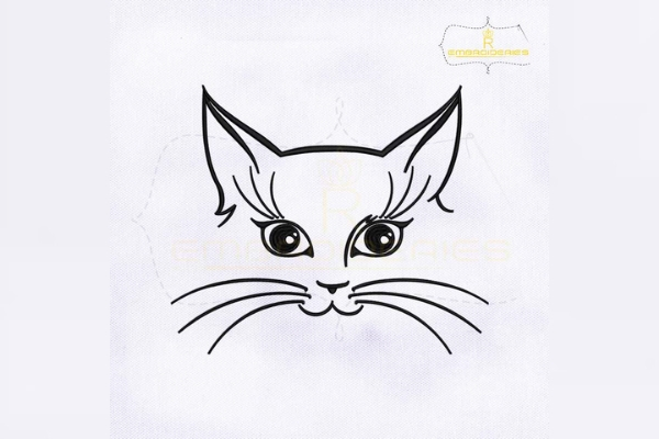 Download Free Inquisitive Cat Face Outline Creative Fabrica for Cricut Explore, Silhouette and other cutting machines.