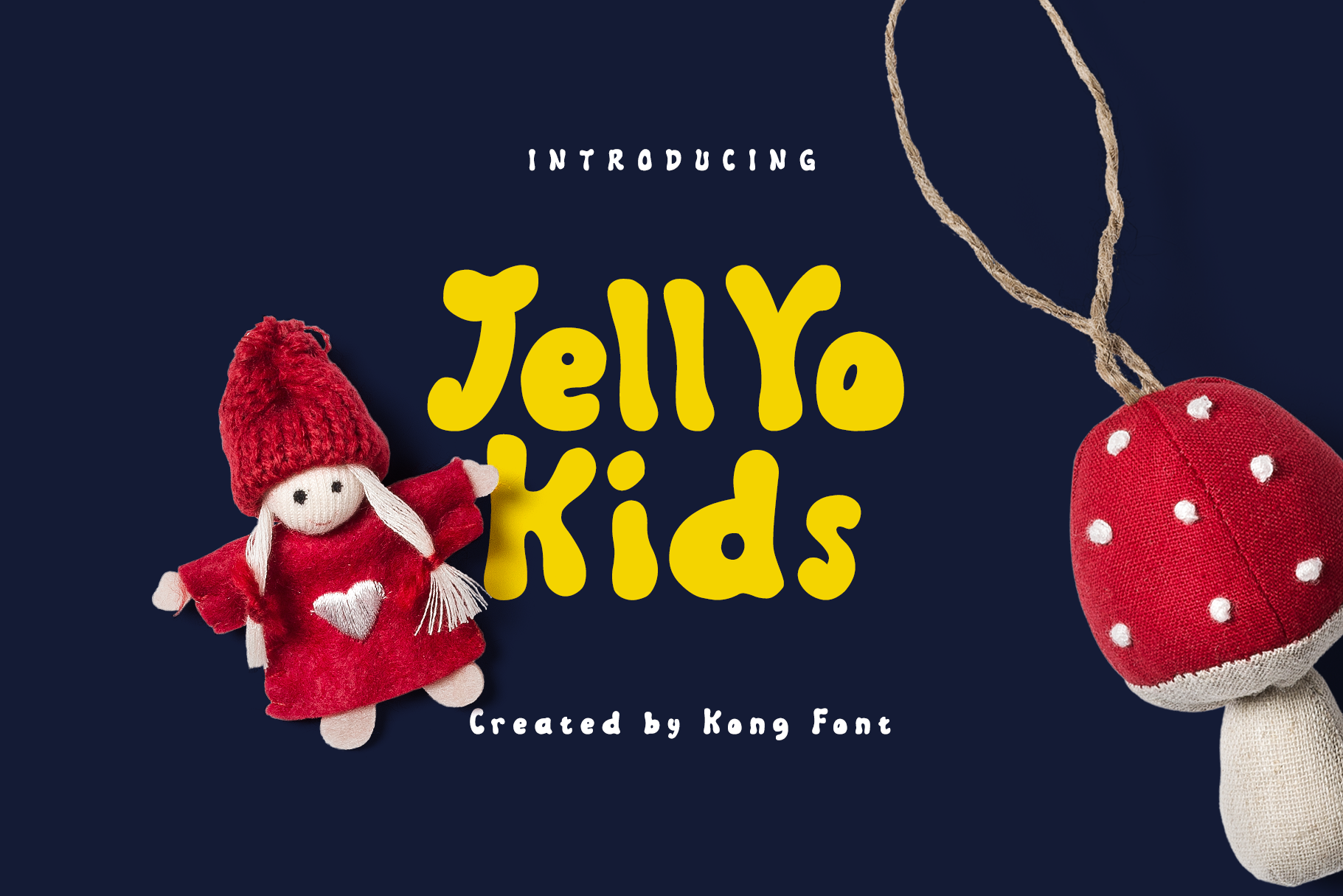 Download Free Jellyo Kids Font By Fontkong Creative Fabrica for Cricut Explore, Silhouette and other cutting machines.
