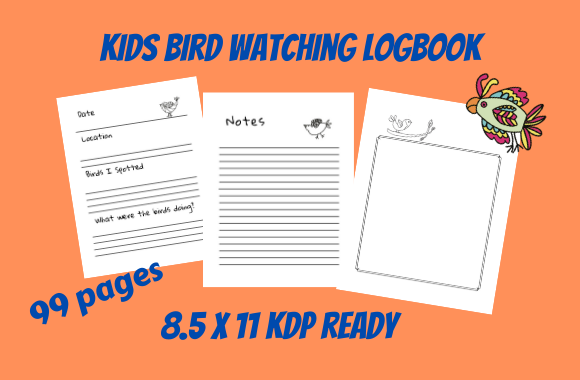 Download Free Kids Bird Watching Notebook Graphic By Tuxcat Design Creative for Cricut Explore, Silhouette and other cutting machines.