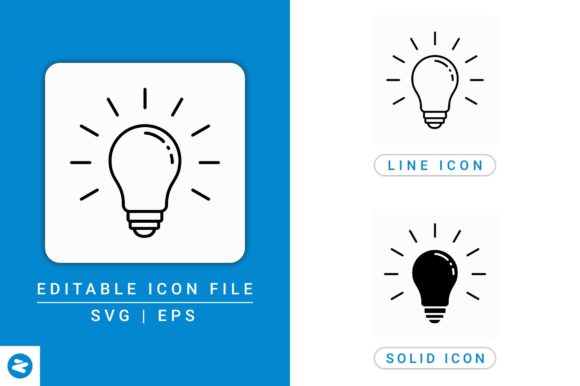 Download Free Light Bulb Icons Set Graphic By Zenorman03 Creative Fabrica for Cricut Explore, Silhouette and other cutting machines.