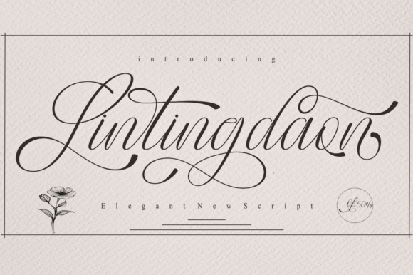 Print on Demand: Lintingdaon Script & Handwritten Font By Petterco - Image 1