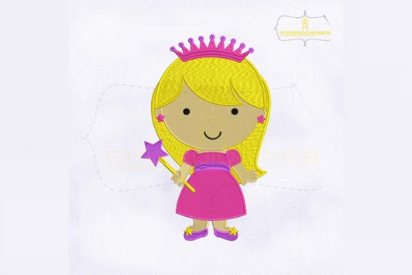 Little Princess Girl Fairy Tales Embroidery Design By royalembroideries