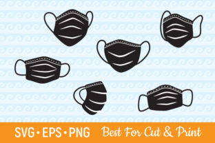 Download Free Medical Face Mask Bundle Virus Graphic By Olimpdesign Creative for Cricut Explore, Silhouette and other cutting machines.