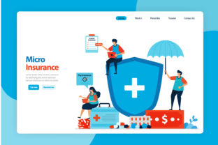 Print on Demand: Micro Financial Insurance and Low Cost Graphic Landing Page Templates By setiawanarief111