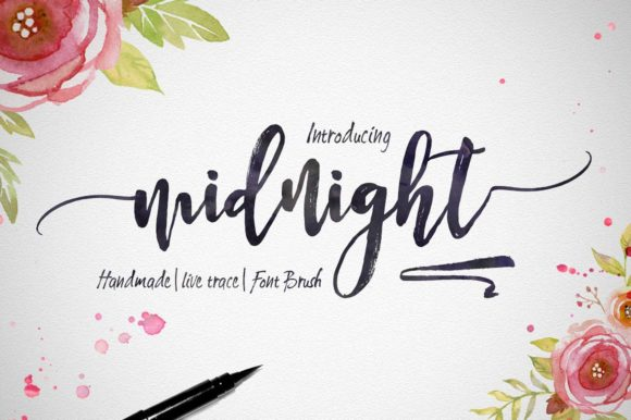 Print on Demand: Midnight Script & Handwritten Font By Artisans