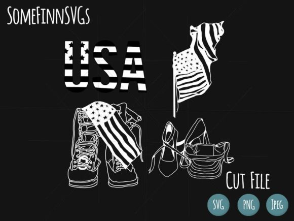 Download Free Military Bundle Patriotic Bundle Graphic By Somefinnsvgs for Cricut Explore, Silhouette and other cutting machines.