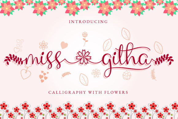 Print on Demand: Miss Githa Script & Handwritten Font By airotype