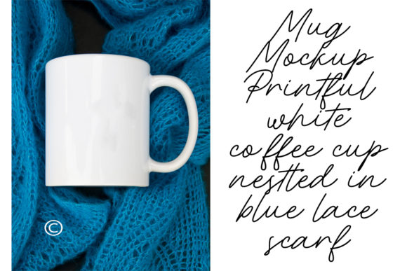 Print on Demand: Mug Mockup Printful White Coffee Cup Graphic Product Mockups By A Design in Time