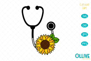 Download Free Nurse Stethoscope Sunflower Graphic By Ollivestudio Creative for Cricut Explore, Silhouette and other cutting machines.
