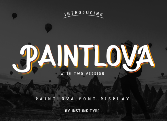 Print on Demand: PaintLova Display Font By inst.ink!type