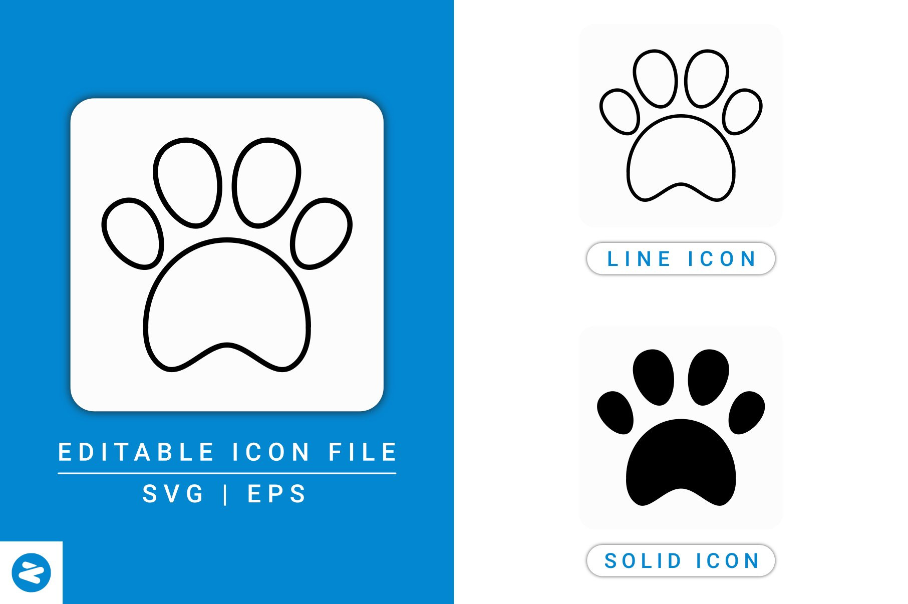 Download Free Paw Icons Set Graphic By Zenorman03 Creative Fabrica for Cricut Explore, Silhouette and other cutting machines.