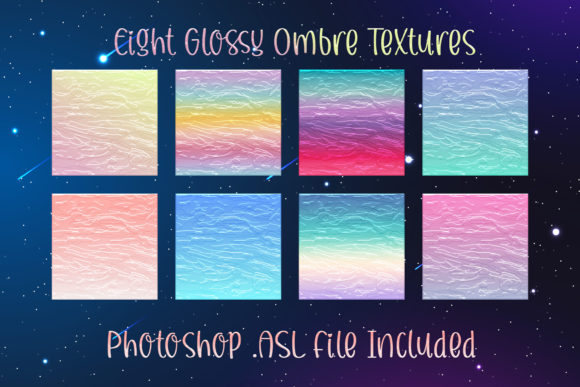 Print on Demand: Photoshop Glossy Ombre Gradient Styles Graphic Layer Styles By AM Digital Designs