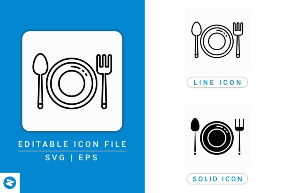 Download Free Plate Icons Set Graphic By Zenorman03 Creative Fabrica for Cricut Explore, Silhouette and other cutting machines.