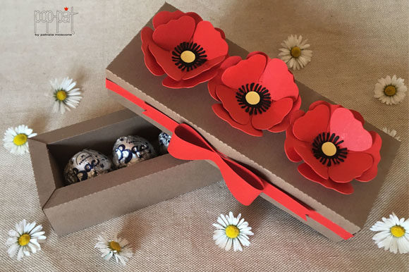 Download Free Poppies Box Graphic By Patrizia Moscone Creative Fabrica for Cricut Explore, Silhouette and other cutting machines.