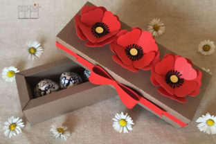 Poppies Box Graphic 3D SVG By patrizia.moscone