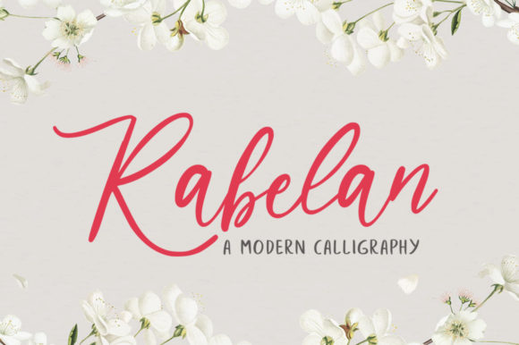 Print on Demand: Rabelan Script & Handwritten Font By vultype