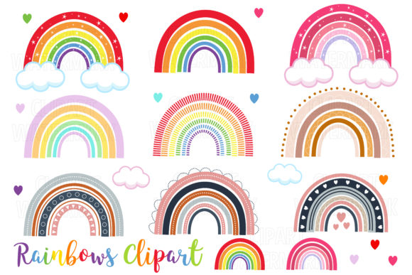 Rainbows Clipart Graphic Illustrations By magreenhouse - Image 1