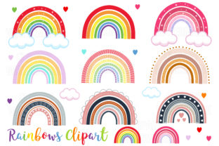 Rainbows Clipart Graphic Illustrations By magreenhouse