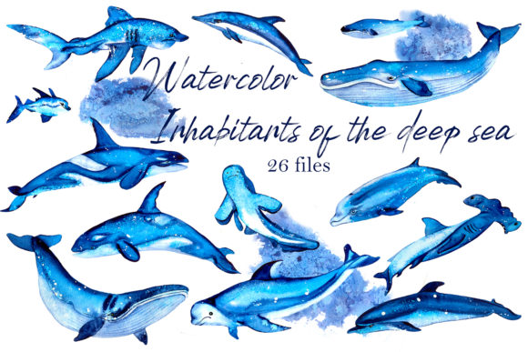 Residents of Deep Water Clipart Graphic Illustrations By ElenaZlataArt