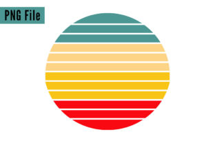 Print on Demand: Retro Vintage Sunsets 4 Colors File Graphic Logos By SunandMoon