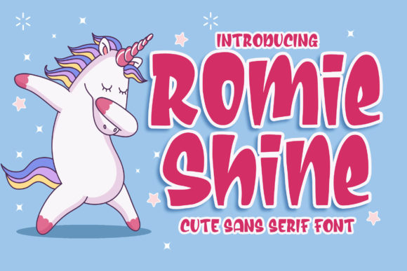 Print on Demand: Romie Shine Display Font By Blankids Studio