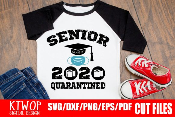 Download Free Senior Quarantined 2020 Graphic By Ktwop Creative Fabrica for Cricut Explore, Silhouette and other cutting machines.
