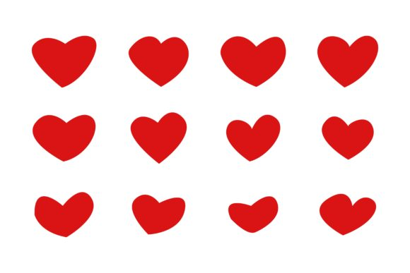 Print on Demand: Set Heart Hand Drawn Graphic Icons By Frog Ground