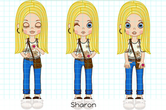 Print on Demand: Sharon Graphic Illustrations By Dolls To Go