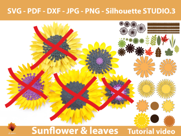 Download Free Single Sunflower Template Graphic By Lasquare Info Creative SVG Cut Files
