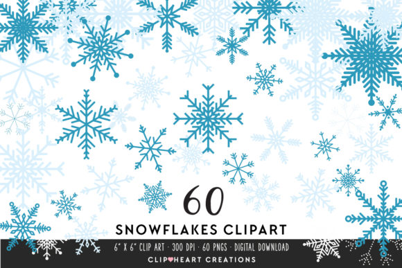 Download Free Snowflake Clipart Graphic By Clipheartcreations Creative Fabrica for Cricut Explore, Silhouette and other cutting machines.