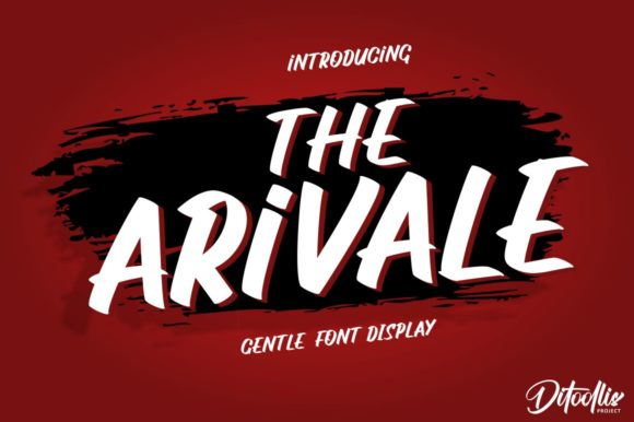 Print on Demand: The Arivale Display Font By Ditoollis Project - Image 1