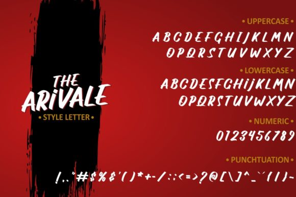 Print on Demand: The Arivale Display Font By Ditoollis Project - Image 6