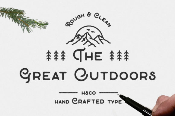 Print on Demand: The Great Outdoors Display Font By Hustle Supply Co.