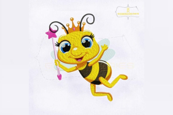 The Magical Queen Bee Bugs & Insects Embroidery Design By RoyalEmbroideries