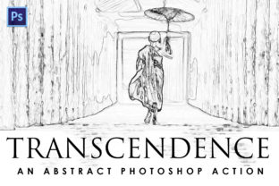 Print on Demand: Transcendence Photoshop Action Graphic Actions & Presets By denestudios
